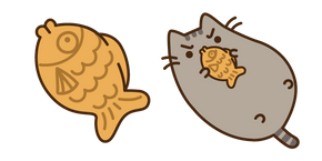 Pusheen and Fish Cookie Cursor