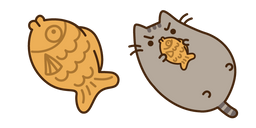 Pusheen and Fish Cookie Curseur