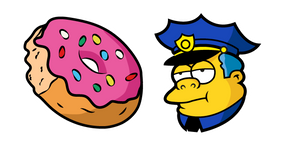 The Simpsons Chief Wiggum Donut Curseur