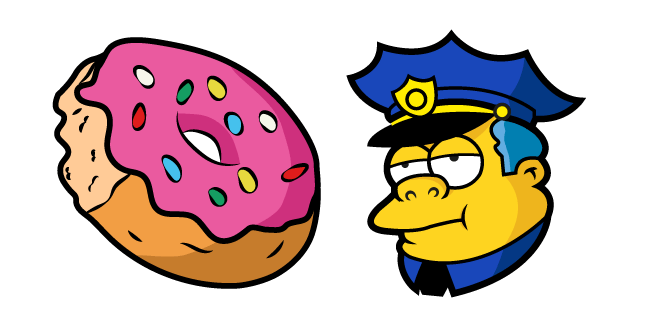 The Simpsons Chief Wiggum Donut