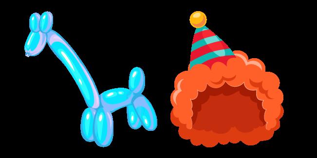 Clown and Giraffe Balloon