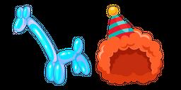 Clown and Giraffe Balloon Curseur