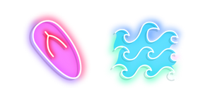 Neon Flip Flops and Waves Cursor