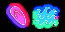 Neon Flip Flops and Waves Curseur