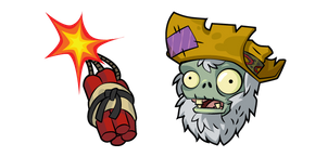 Курсор Plants vs. Zombies Prospector Zombie