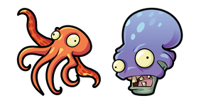 Курсор Plants vs. Zombies Octo Zombie