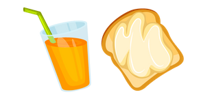 Butter Toast and Juice Cursor