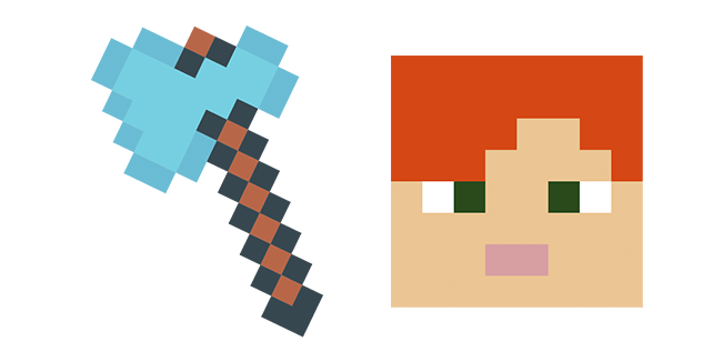 Minecraft Diamond Axe & Alex