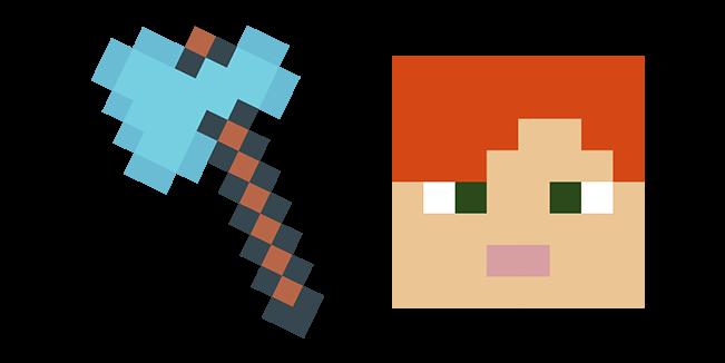 Minecraft Diamond Axe & Alex