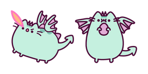 Pusheen as Dragnosheen Cursor