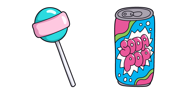 VSCO Girl Soda and Lollipop