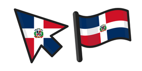 Курсор Dominican Republic Flag