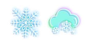 Neon Snowflakes Cursor