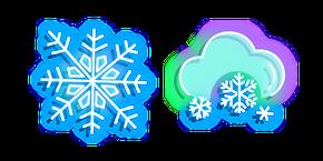 Neon Snowflakes Curseur
