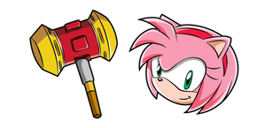Sonic Amy Rose and Pico Pico Hammer Cursor
