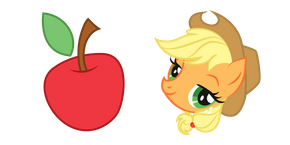 My Little Pony Applejack and Apple Cursor