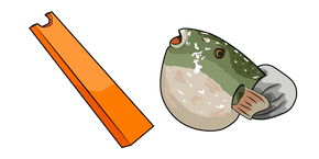 Carrot Fish Meme Cursor