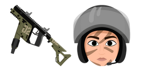 Курсор Rainbow Six Siege Mira Vector