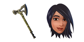Fortnite Gear Specialist Maya and Pickaxe Cursor