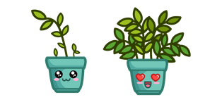 Cute Pot with Plant Cursor