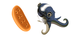 Subnautica Cuddlefish and Cookie Curseur