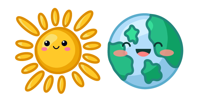 Cute Sun and Earth