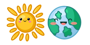 Cute Sun and Earth Cursor