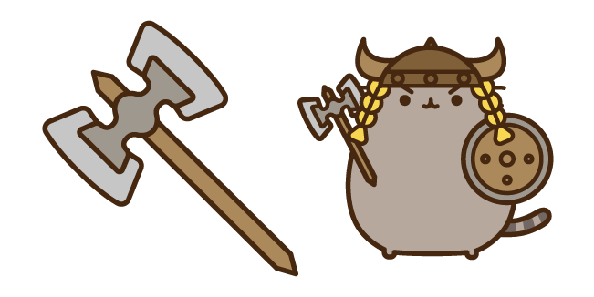 Dragonborn Pusheen and Axe