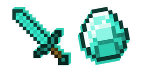 Minecraft Diamond Sword and Diamond Cursor