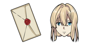 Violet Evergarden and Letter Cursor
