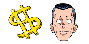 Курсор JoJo's Bizarre Adventure Okuyasu and Dollar Sign