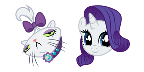 My Little Pony Opalescence and Rarity Curseur