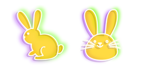 Neon Rabbit Cursor