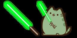 Pusheen Yoda and Lightsaber Curseur
