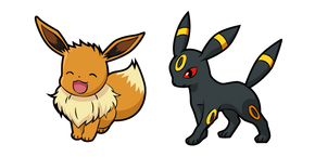 Pokemon Eevee and Umbreon