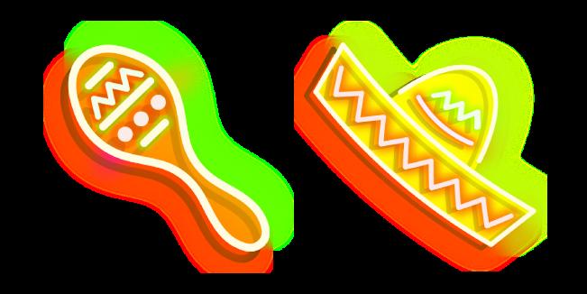 Neon Maracas and Sombrero