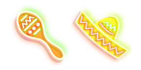 Neon Maracas and Sombrero Cursor