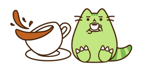 Курсор Pusheen Tea-Rex