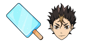 Haikyuu!! Yu Nishinoya and Gari Gari kun Popsicle Cursor