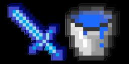 Minecraft Water Bucket and Sword Curseur