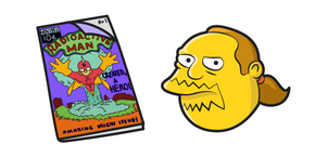 The Simpsons Comic Book Guy and Comics Curseur