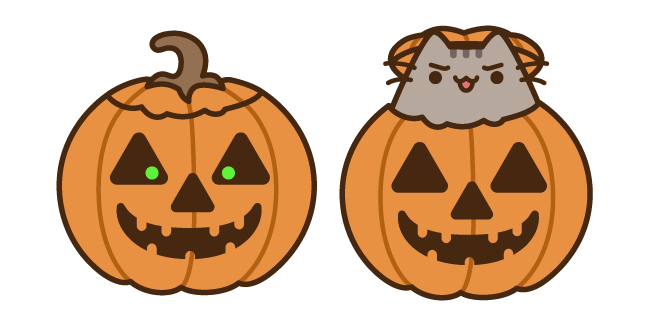 Pusheen in Jack o'Lantern