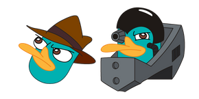 Phineas and Ferb Perry the Platypus and Platyborg Cursor