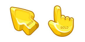 Materials Gold Bar Cursor