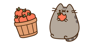 Pusheen and Apples Cursor