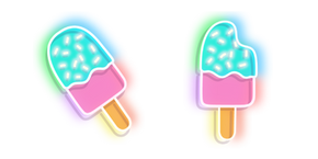 Neon Ice Cream Cursor