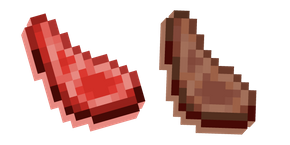 Minecraft Mutton Raw and Cooked Cursor