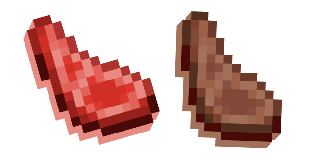 Minecraft Mutton Raw and Cooked