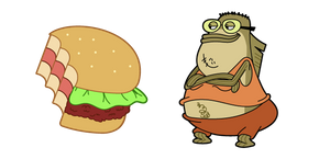 SpongeBob Bubble Bass and Crab's Burger Cursor