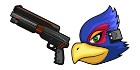 Star Fox Falco Lombardi and Blaster Curseur